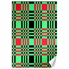 Bright Christmas Abstract Background Christmas Colors Of Red Green And Black Make Up This Abstract Canvas 20  X 30   by Simbadda