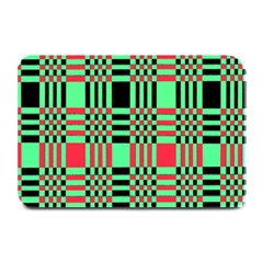 Bright Christmas Abstract Background Christmas Colors Of Red Green And Black Make Up This Abstract Plate Mats by Simbadda