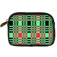 Bright Christmas Abstract Background Christmas Colors Of Red Green And Black Make Up This Abstract Digital Camera Cases by Simbadda