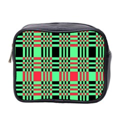 Bright Christmas Abstract Background Christmas Colors Of Red Green And Black Make Up This Abstract Mini Toiletries Bag 2 Side by Simbadda