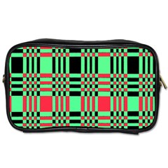 Bright Christmas Abstract Background Christmas Colors Of Red Green And Black Make Up This Abstract Toiletries Bags 2 Side by Simbadda