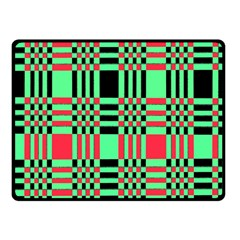 Bright Christmas Abstract Background Christmas Colors Of Red Green And Black Make Up This Abstract Fleece Blanket (small)