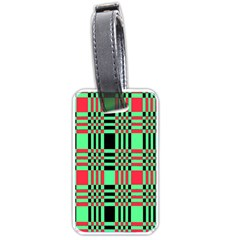 Bright Christmas Abstract Background Christmas Colors Of Red Green And Black Make Up This Abstract Luggage Tags (one Side)  by Simbadda