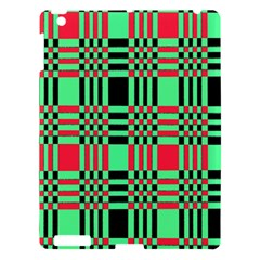 Bright Christmas Abstract Background Christmas Colors Of Red Green And Black Make Up This Abstract Apple Ipad 3/4 Hardshell Case by Simbadda