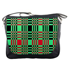 Bright Christmas Abstract Background Christmas Colors Of Red Green And Black Make Up This Abstract Messenger Bags