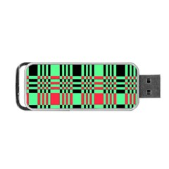Bright Christmas Abstract Background Christmas Colors Of Red Green And Black Make Up This Abstract Portable Usb Flash (two Sides) by Simbadda