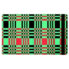 Bright Christmas Abstract Background Christmas Colors Of Red Green And Black Make Up This Abstract Apple Ipad 2 Flip Case by Simbadda