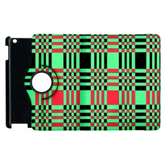 Bright Christmas Abstract Background Christmas Colors Of Red Green And Black Make Up This Abstract Apple Ipad 2 Flip 360 Case by Simbadda