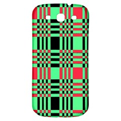 Bright Christmas Abstract Background Christmas Colors Of Red Green And Black Make Up This Abstract Samsung Galaxy S3 S Iii Classic Hardshell Back Case by Simbadda