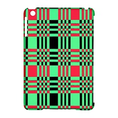 Bright Christmas Abstract Background Christmas Colors Of Red Green And Black Make Up This Abstract Apple Ipad Mini Hardshell Case (compatible With Smart Cover) by Simbadda