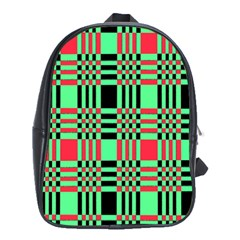 Bright Christmas Abstract Background Christmas Colors Of Red Green And Black Make Up This Abstract School Bags (xl)  by Simbadda
