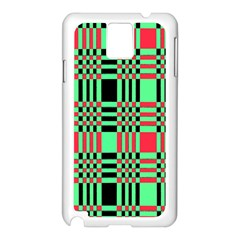 Bright Christmas Abstract Background Christmas Colors Of Red Green And Black Make Up This Abstract Samsung Galaxy Note 3 N9005 Case (white) by Simbadda