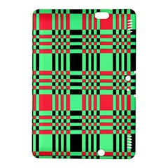 Bright Christmas Abstract Background Christmas Colors Of Red Green And Black Make Up This Abstract Kindle Fire Hdx 8 9  Hardshell Case by Simbadda