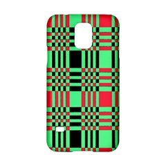 Bright Christmas Abstract Background Christmas Colors Of Red Green And Black Make Up This Abstract Samsung Galaxy S5 Hardshell Case  by Simbadda