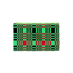 Bright Christmas Abstract Background Christmas Colors Of Red Green And Black Make Up This Abstract Cosmetic Bag (xs) by Simbadda