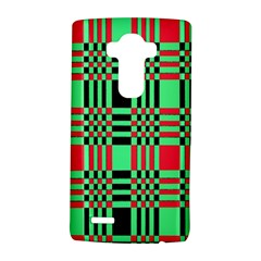 Bright Christmas Abstract Background Christmas Colors Of Red Green And Black Make Up This Abstract Lg G4 Hardshell Case by Simbadda
