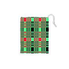 Bright Christmas Abstract Background Christmas Colors Of Red Green And Black Make Up This Abstract Drawstring Pouches (xs)