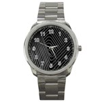 Chrome Abstract Pile Of Chrome Chairs Detail Sport Metal Watch Front