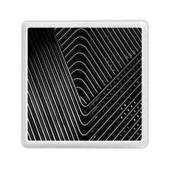 Chrome Abstract Pile Of Chrome Chairs Detail Memory Card Reader (square)  by Simbadda