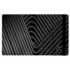 Chrome Abstract Pile Of Chrome Chairs Detail Apple Ipad 3/4 Flip Case by Simbadda