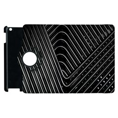 Chrome Abstract Pile Of Chrome Chairs Detail Apple Ipad 3/4 Flip 360 Case by Simbadda