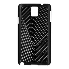 Chrome Abstract Pile Of Chrome Chairs Detail Samsung Galaxy Note 3 N9005 Case (black) by Simbadda
