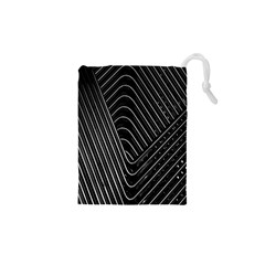 Chrome Abstract Pile Of Chrome Chairs Detail Drawstring Pouches (XS)  by Simbadda