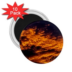 Abstract Orange Black Sunset Clouds 2 25  Magnets (10 Pack)  by Simbadda