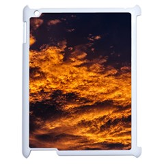Abstract Orange Black Sunset Clouds Apple Ipad 2 Case (white) by Simbadda