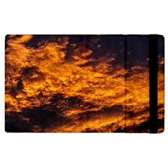 Abstract Orange Black Sunset Clouds Apple Ipad 3/4 Flip Case by Simbadda