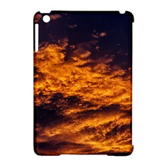 Abstract Orange Black Sunset Clouds Apple Ipad Mini Hardshell Case (compatible With Smart Cover) by Simbadda