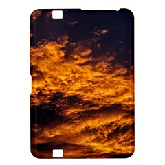 Abstract Orange Black Sunset Clouds Kindle Fire Hd 8 9  by Simbadda