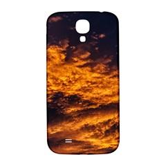 Abstract Orange Black Sunset Clouds Samsung Galaxy S4 I9500/i9505  Hardshell Back Case by Simbadda