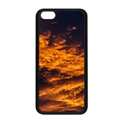 Abstract Orange Black Sunset Clouds Apple Iphone 5c Seamless Case (black) by Simbadda