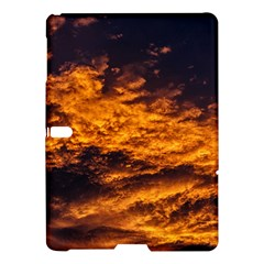 Abstract Orange Black Sunset Clouds Samsung Galaxy Tab S (10 5 ) Hardshell Case  by Simbadda