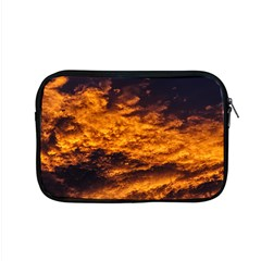 Abstract Orange Black Sunset Clouds Apple Macbook Pro 15  Zipper Case by Simbadda