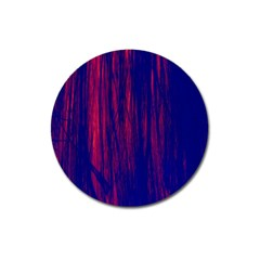 Abstract Color Red Blue Magnet 3  (round) by Simbadda