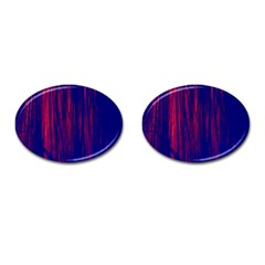 Abstract Color Red Blue Cufflinks (oval) by Simbadda