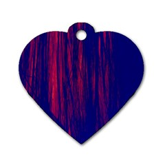 Abstract Color Red Blue Dog Tag Heart (two Sides) by Simbadda