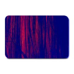 Abstract Color Red Blue Plate Mats by Simbadda