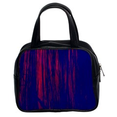 Abstract Color Red Blue Classic Handbags (2 Sides)