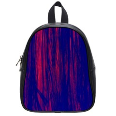 Abstract Color Red Blue School Bags (small)  by Simbadda