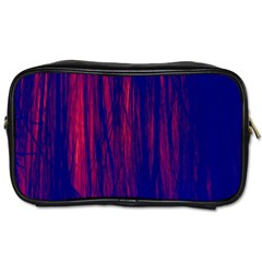 Abstract Color Red Blue Toiletries Bags 2 Side by Simbadda