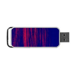 Abstract Color Red Blue Portable Usb Flash (one Side) by Simbadda