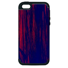 Abstract Color Red Blue Apple Iphone 5 Hardshell Case (pc+silicone) by Simbadda
