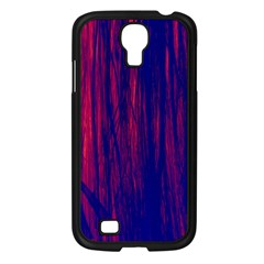 Abstract Color Red Blue Samsung Galaxy S4 I9500/ I9505 Case (black) by Simbadda