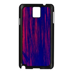 Abstract Color Red Blue Samsung Galaxy Note 3 N9005 Case (black) by Simbadda