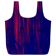 Abstract Color Red Blue Full Print Recycle Bags (l)  by Simbadda