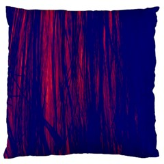Abstract Color Red Blue Standard Flano Cushion Case (two Sides) by Simbadda