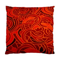 Orange Abstract Background Standard Cushion Case (two Sides) by Simbadda